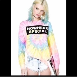 UNIF Tie Dye Nowhere Special Graphic Sweatshirt XS
